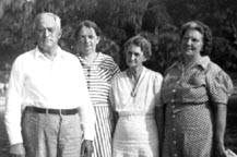 Frank and Lyda ,with Ed's wife Nellie Morgan, and Eugene's wife Grace Pierce, Port Orange,.circa1938.