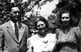 Eugene with wife Grace and daughter Marjorie, Gary,Indiana, 1941.