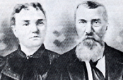 Lester and Mary Ann Dondanville (1.3) Benoit, 		Clare, Iowa, circa 1890s.