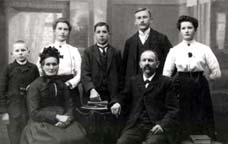 Philomena and Laurent Matt and their children,(from left) Joseph (25.5), Matilda (25.3), Fortune (25.4), Emile (25.1), and Odile (25.2) ,Ville,  Alsace, circa 1913.