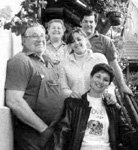 Francois Paul Dontenville and his family, Rita Spiehler Dontenville, Aimar Francois, Carole Dontenville Culverhouse, and Joelle Dontenville Trajin, Scherwiller September 2001.