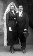 Albert Dontenvill and Marie Eugenie Herman on their wedding day, 19, November 1920, Breitenbach.